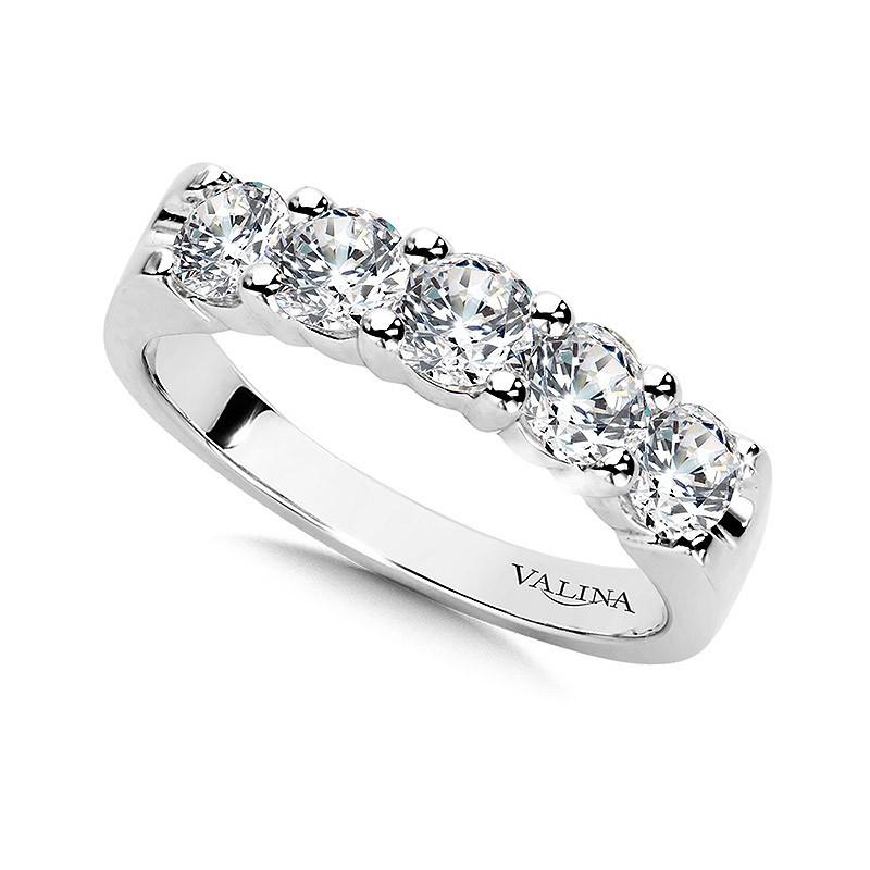 1 25 Carat 5 Stone Statement Diamond Wedding Band Wbd011 W Valina Anniversary Band
