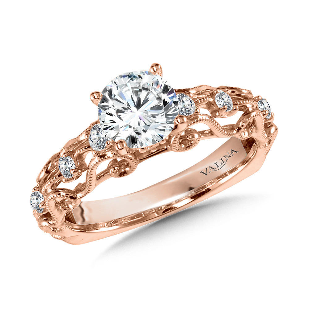 Vintage Engagement Ring R1017p Valina Vintage Style Engagement Rings