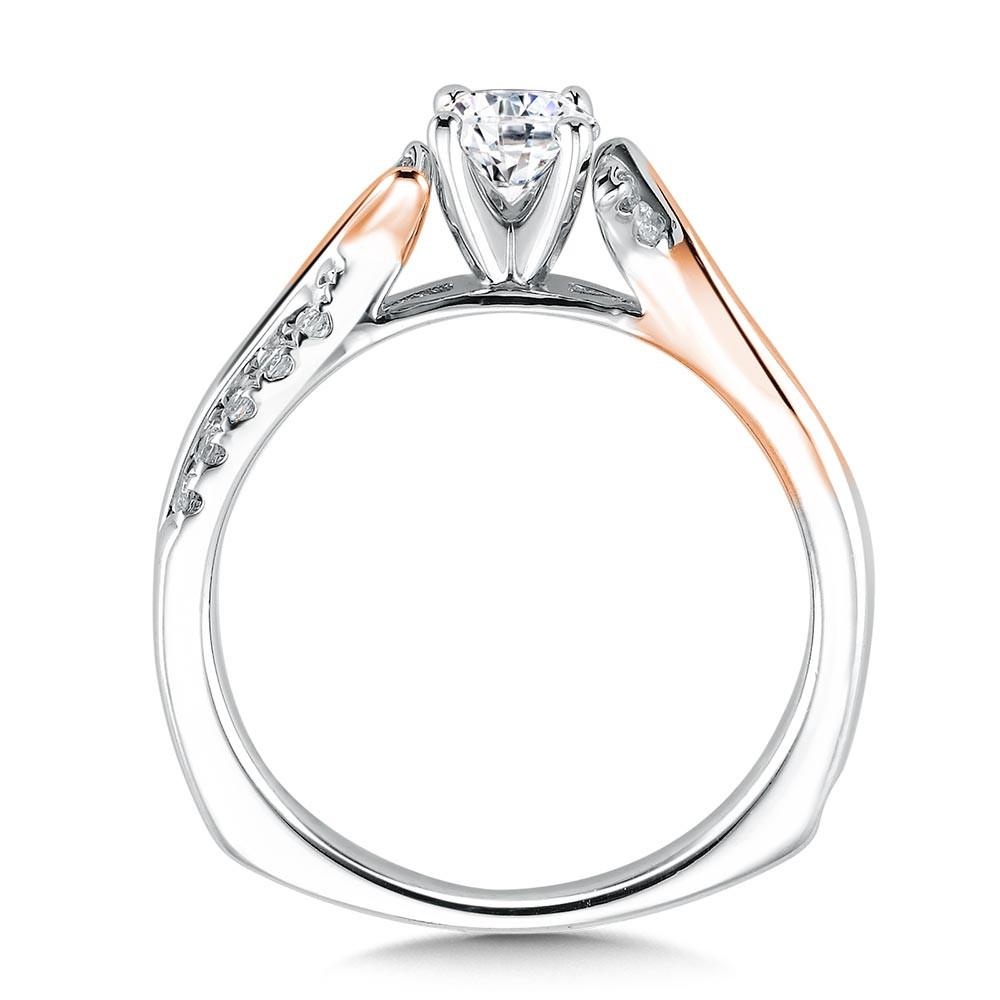 Rose White Gold Diamond Engagement Ring Rq9370wp Valina Mix Metal Engagement Rings