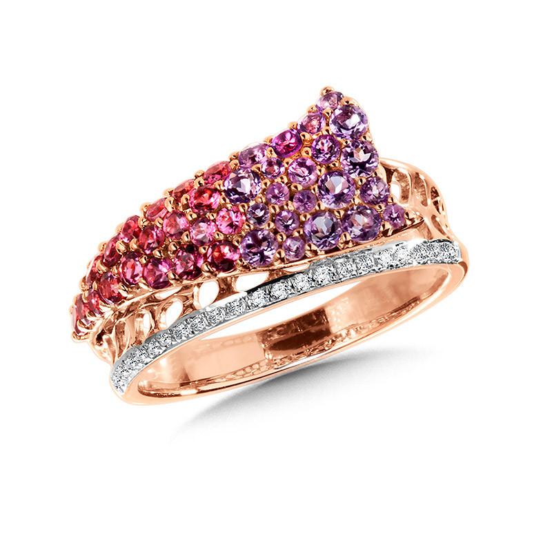Beautiful Tourmaline Loop Shank Ring