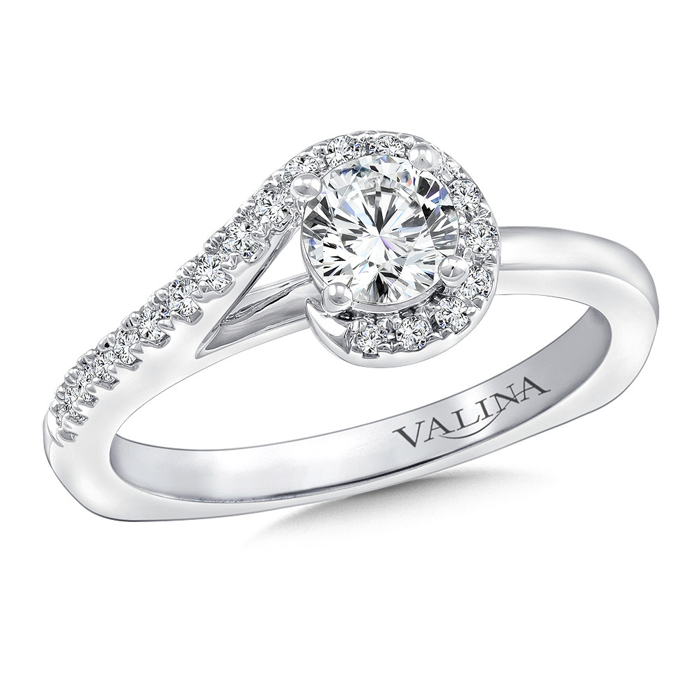 Spiral Style Engagement Ring by Valina - RQ9695W