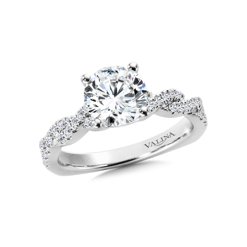 Valina Criss-Cross Diamond Engagement Ring - R9896W