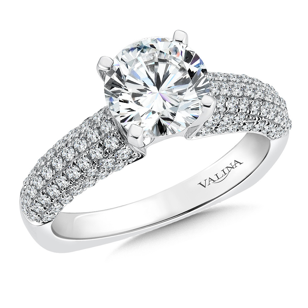 Diamond Engagement Ring by Valina - R162W