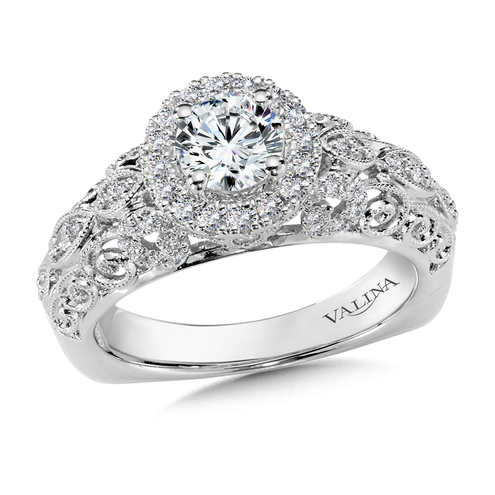 Halo Engagement Ring by Valina - RQ9901WP