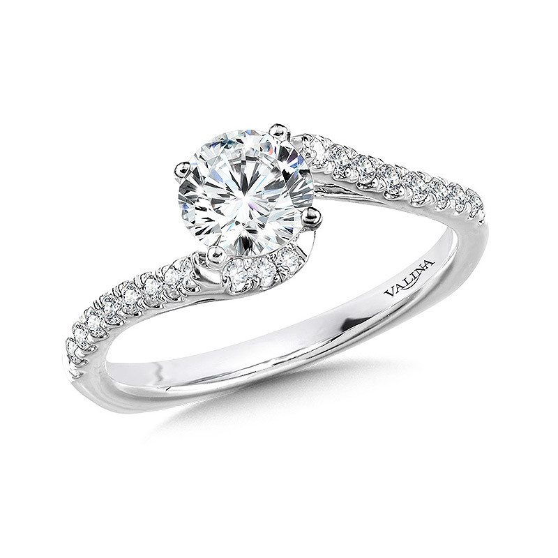 Valina Spiral Engagement Ring - R1064W